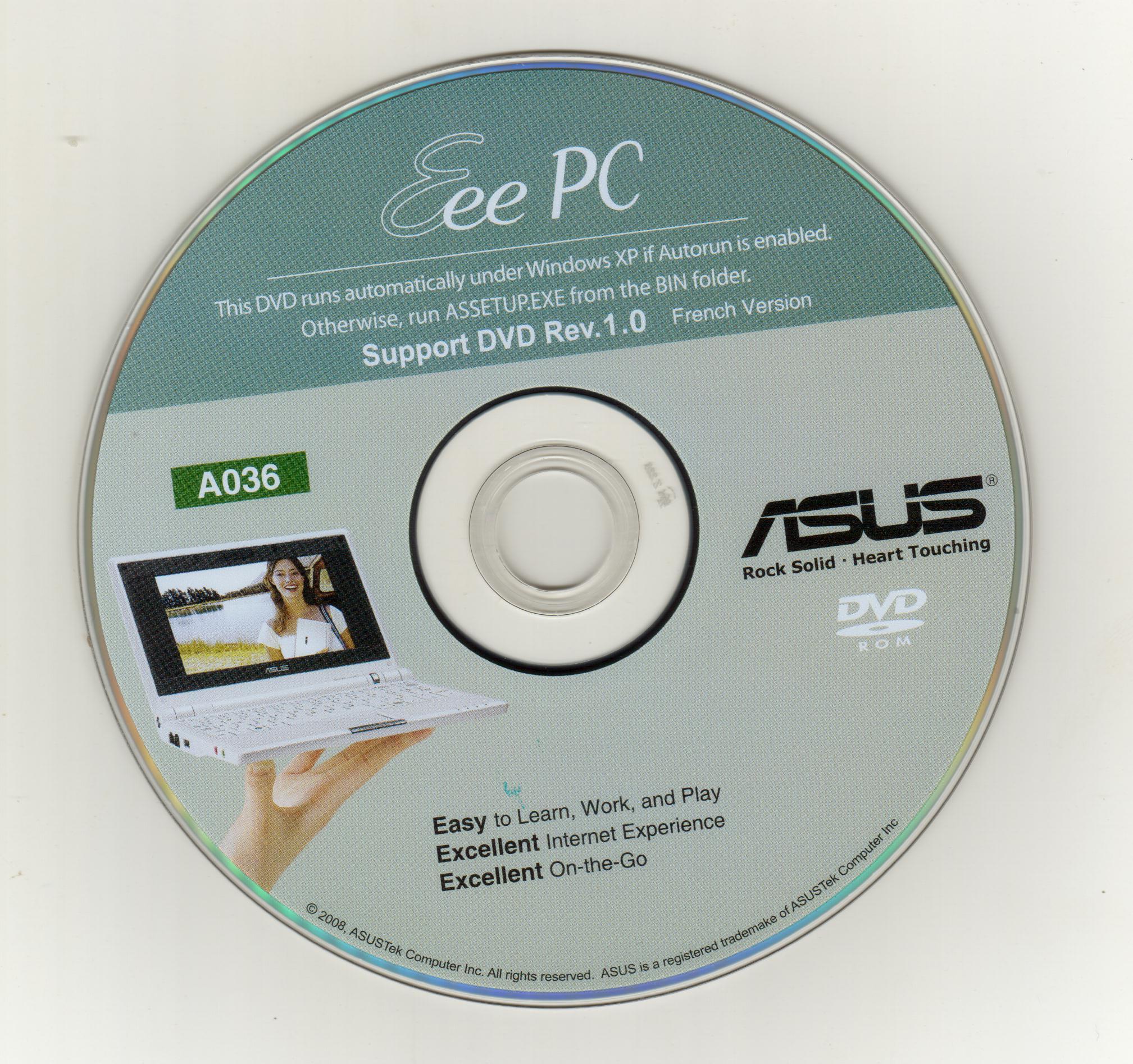 dvd de restauration asus eee pc